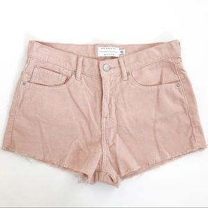 Kendall & Kylie Corduroy Pink High Rise Shorts